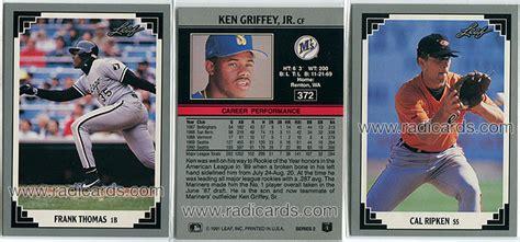 leaf series  baseball  radicards blog