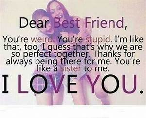 I LOVE YOU MY BEST FRIEND FOREVER QUOTES image quotes at ...