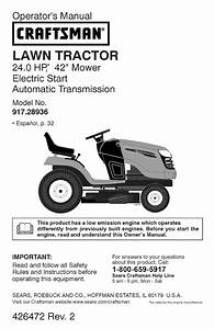 Craftsman Lawn Mower Yt 4000 User Guide