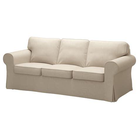 Ektorp Threeseat Sofa Nordvalla Dark Beige Ikea
