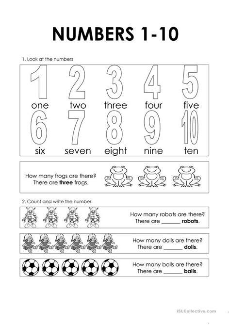 numbers   worksheet  esl printable worksheets