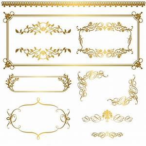 Gold lace pattern 05 vector Free Vector / 4Vector