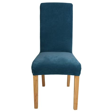 fit blue stretch dining room chair covers protector