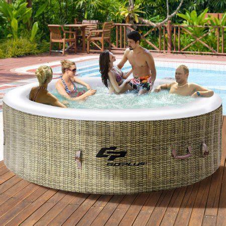 tub spa reviews goplus 6 person tub outdoor jets portable