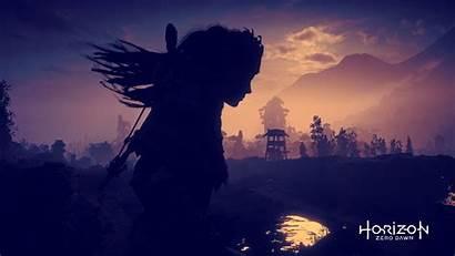 Horizon Dawn Zero Dark Desktop Background