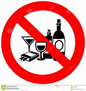 No Alcohol And Smoking Sign Stock Vector - Image: 53293892