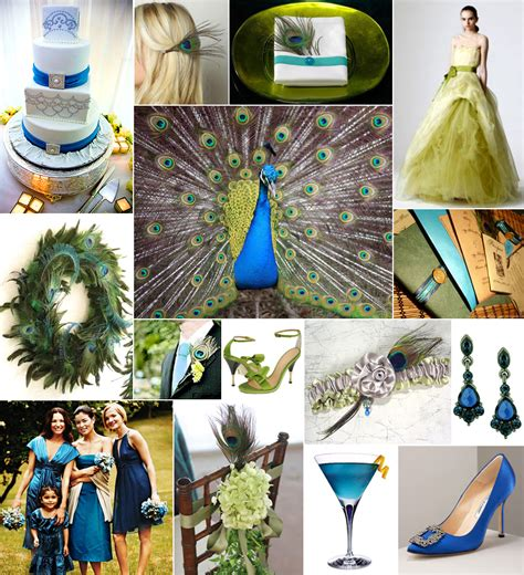 Inspiration Board A Peacock Wedding In Blue And Green