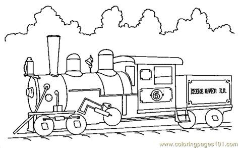 Train Coloring Page 11 Coloring Page