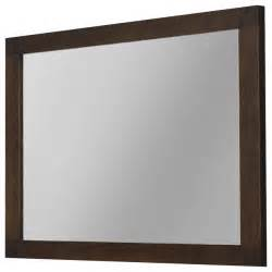 40 quot nordico wall framed mirror solid wood walnut contemporary bathroom mirrors by macral