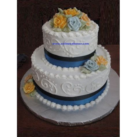 Double Layer Anniversary Or Birthday Cake Free Deliveryin