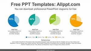 Colorful Pie Charts Powerpoint Diagram Template