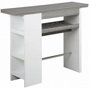 Table Bar Avec Rangement : table de bar avec rangement en mdf x p achat vente table d 39 appoint table de bar ~ Teatrodelosmanantiales.com Idées de Décoration
