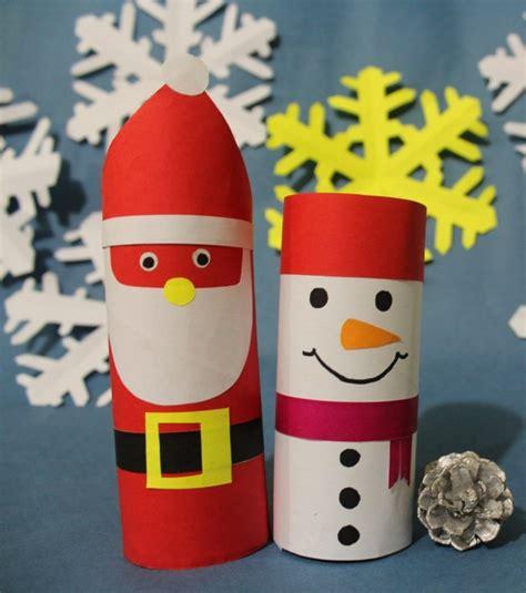 bastelideen weihnachten einfach basteln mit klorollen zu weihnachten 20 tolle recycling ideen