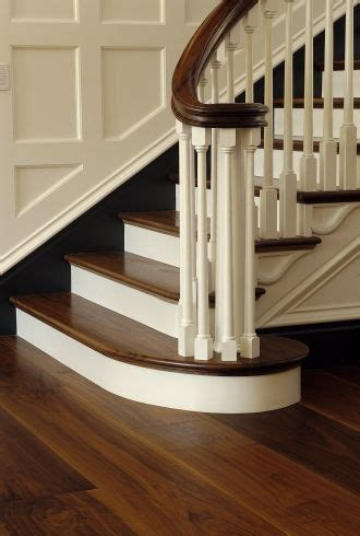 Beautiful Dark Walnut Hardwood Flooring and staircase from
