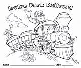 Coloring Train Christmas sketch template