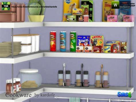 sims resource cookware  kardofe sims  downloads