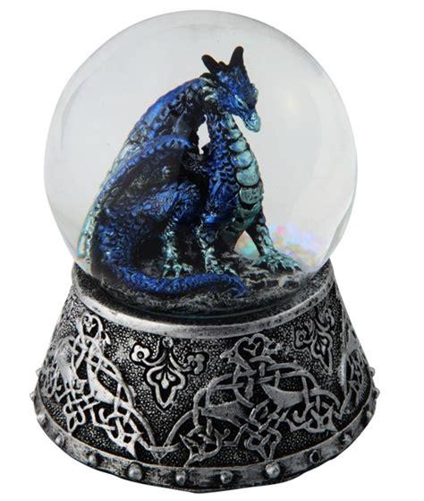 blue dragon snow globe gsc imports