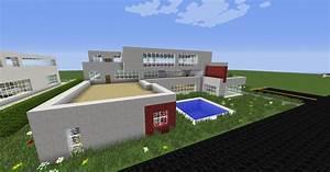 Moderne Häuser Mit Pool : moderne villa mit pool in minecraft bauen minecraft ~ Markanthonyermac.com Haus und Dekorationen
