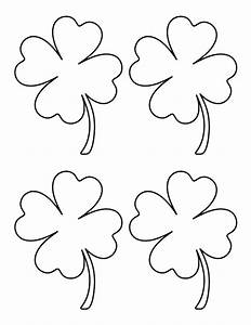 pin by muse printables on printable patterns at With clover templates flowers