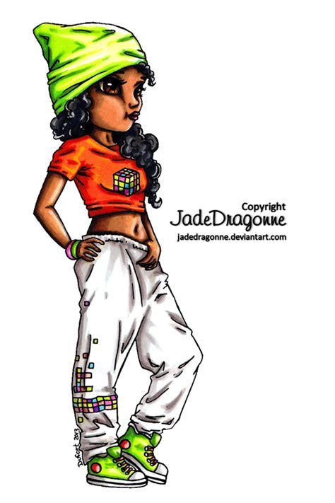 hip hop dancer colored  jadedragonne  deviantart
