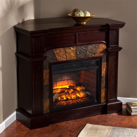 electric corner fireplace glen cove 45 5 in w faux corner infrared electric