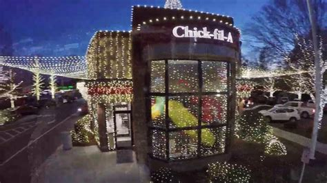 fil a waters christmas lights lights of athens youtube