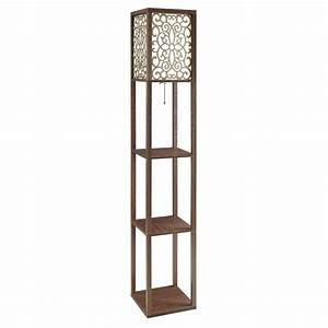 coaster 3 shelf floor lamp in cappuccino 901568 With floor lamp with 3 shelves