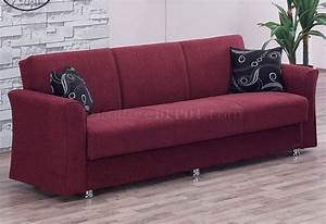 ohio sofa bed in burgundy fabric by empire w optional loveseat With burgundy sofa bed