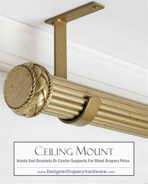 Ceiling Mount Drapery Hardware by Simple And Fast Ceiling Mount Installations For Wood