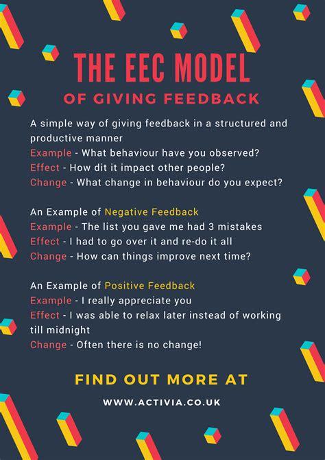 eec model   effective tool  giving feedback