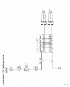 Nissan Rogue Service Manual  Power Seat For Passenger Side - Wiring Diagram - Seat