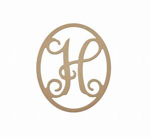 monogram letter h wood cut out unfinished wooden mdf paintable With where to buy monogram letters