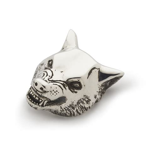 large wolf head pendant  great frog