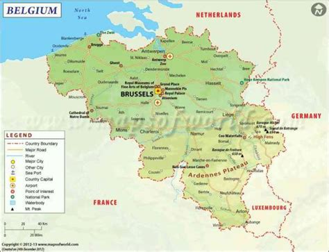 belgium map holidaymapqcom