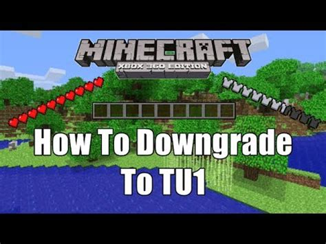 How To Downgrade Minecraft Xbox To Tu1!!! Youtube