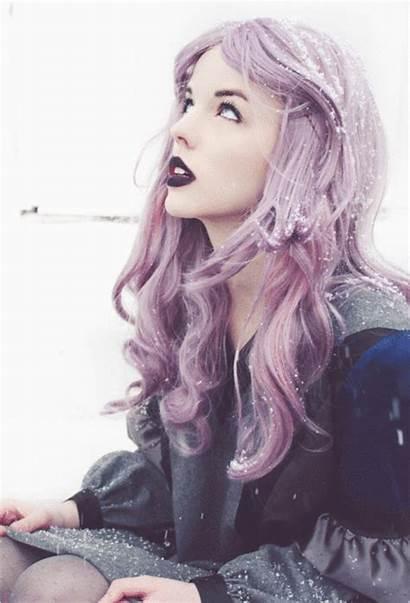 Goth Grunge Pastel Winter Soft Purple Snow