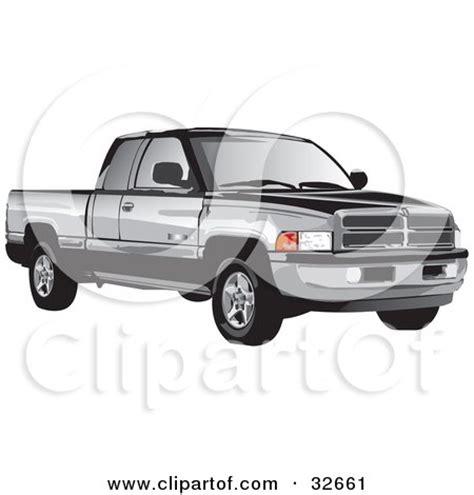 clipart   black  white vintage pickup truck