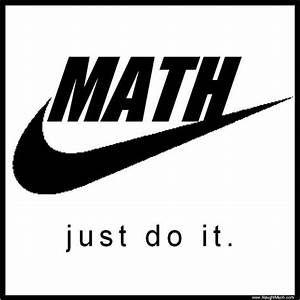 Just a cool math logo. I am sure Nike is down with this ...