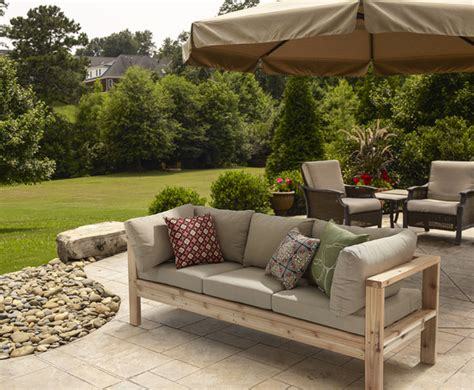 ana white outdoor sofa from 2x4s for ryobi nation diy