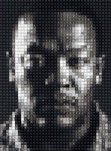 keyboard key pixel portraits workbynight wbk