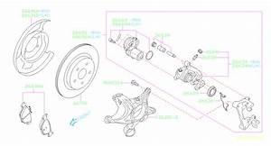 26669al010 - Parking Brake Actuator  Left   Rear