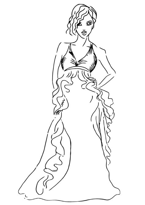top model coloring pages coloring pages