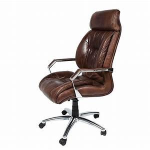 Chefsessel Leder Braun : bureaustoel bruin leer kopen online internetwinkel ~ Indierocktalk.com Haus und Dekorationen