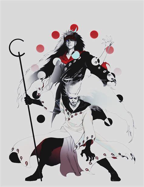 Naruto Shippuuden Uchiha Madara Selective Coloring Fan