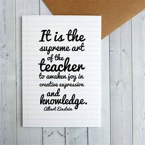 einstein quote teacher thank you card by bookishly ...