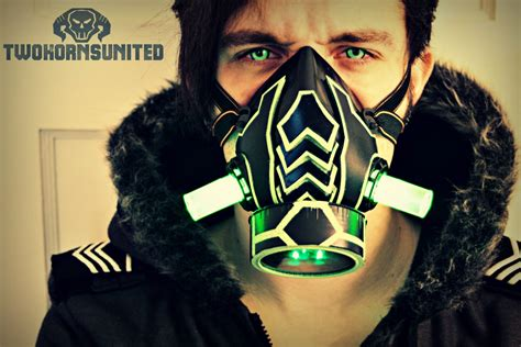 light up masks for raves the arachnica cyber light up respirator by twohornsunited