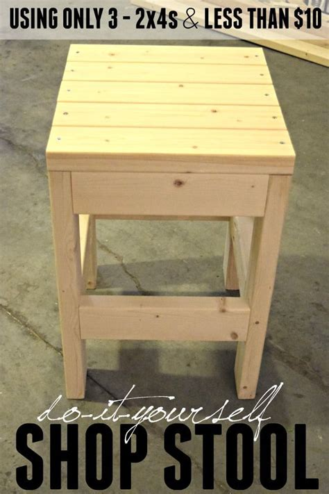 diy shop stool woodworking projects diy easy