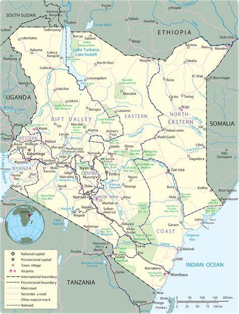 map  kenya nairobi travel africa