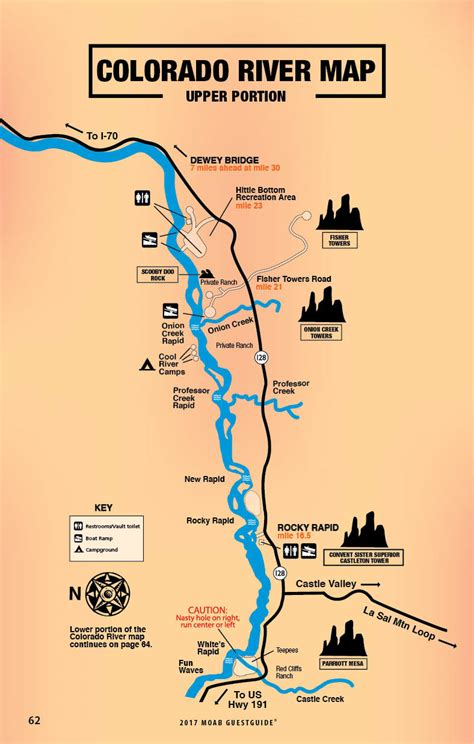 colorado river map  guestguide travel leisure