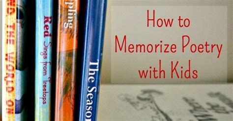 family literacy   memorize poetry  kids